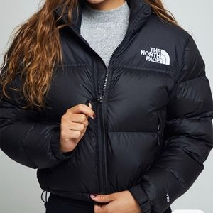 North Face Cropped Puffer Jacket